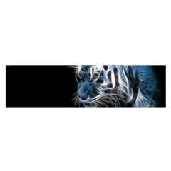 Ghost Tiger Satin Scarf (oblong) by Brittlevirginclothing