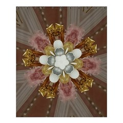 Elegant Antique Pink Kaleidoscope Flower Gold Chic Stylish Classic Design Shower Curtain 60  X 72  (medium)  by yoursparklingshop