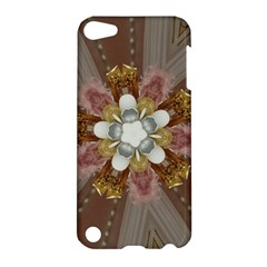 Elegant Antique Pink Kaleidoscope Flower Gold Chic Stylish Classic Design Apple Ipod Touch 5 Hardshell Case by yoursparklingshop