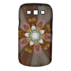 Elegant Antique Pink Kaleidoscope Flower Gold Chic Stylish Classic Design Samsung Galaxy S Iii Classic Hardshell Case (pc+silicone) by yoursparklingshop