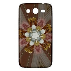 Elegant Antique Pink Kaleidoscope Flower Gold Chic Stylish Classic Design Samsung Galaxy Mega 5 8 I9152 Hardshell Case  by yoursparklingshop
