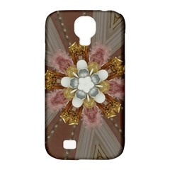 Elegant Antique Pink Kaleidoscope Flower Gold Chic Stylish Classic Design Samsung Galaxy S4 Classic Hardshell Case (pc+silicone) by yoursparklingshop