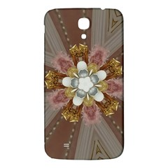 Elegant Antique Pink Kaleidoscope Flower Gold Chic Stylish Classic Design Samsung Galaxy Mega I9200 Hardshell Back Case by yoursparklingshop