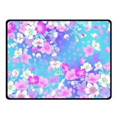 Colorful Pastel Flowers Fleece Blanket (small) by Brittlevirginclothing