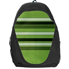 Greenery Stripes Pattern Horizontal Stripe Shades Of Spring Green Backpack Bag by yoursparklingshop