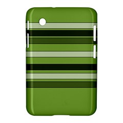 Greenery Stripes Pattern Horizontal Stripe Shades Of Spring Green Samsung Galaxy Tab 2 (7 ) P3100 Hardshell Case  by yoursparklingshop