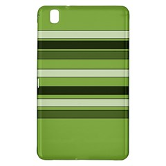 Greenery Stripes Pattern Horizontal Stripe Shades Of Spring Green Samsung Galaxy Tab Pro 8 4 Hardshell Case by yoursparklingshop