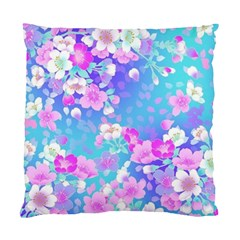 Colorful Pastel Flowers Standard Cushion Case (one Side) by Brittlevirginclothing