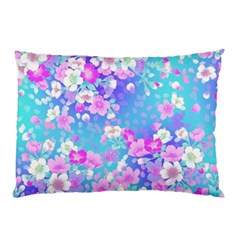 Colorful Pastel Flowers Pillow Case (two Sides) by Brittlevirginclothing