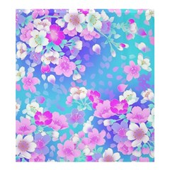 Colorful Pastel Flowers Shower Curtain 66  X 72  (large)  by Brittlevirginclothing