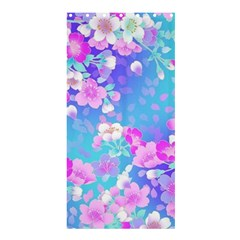 Colorful Pastel Flowers Shower Curtain 36  X 72  (stall)  by Brittlevirginclothing