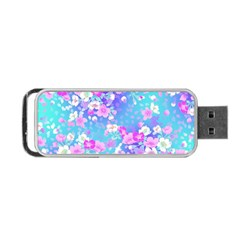 Colorful Pastel Flowers Portable Usb Flash (two Sides) by Brittlevirginclothing