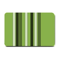 Greenery Stripes Pattern 8000 Vertical Stripe Shades Of Spring Green Color Small Doormat  by yoursparklingshop