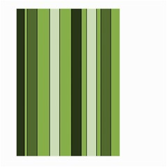 Greenery Stripes Pattern 8000 Vertical Stripe Shades Of Spring Green Color Large Garden Flag (two Sides) by yoursparklingshop