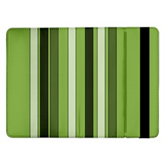 Greenery Stripes Pattern 8000 Vertical Stripe Shades Of Spring Green Color Samsung Galaxy Tab Pro 12 2  Flip Case by yoursparklingshop