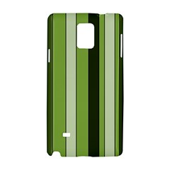 Greenery Stripes Pattern 8000 Vertical Stripe Shades Of Spring Green Color Samsung Galaxy Note 4 Hardshell Case by yoursparklingshop