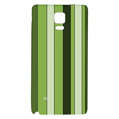 Greenery Stripes Pattern 8000 Vertical Stripe Shades Of Spring Green Color Galaxy Note 4 Back Case by yoursparklingshop