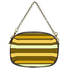 Elegant Shades Of Primrose Yellow Brown Orange Stripes Pattern Chain Purses (one Side)  by yoursparklingshop