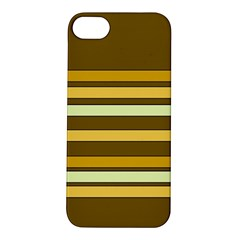 Elegant Shades Of Primrose Yellow Brown Orange Stripes Pattern Apple Iphone 5s/ Se Hardshell Case by yoursparklingshop
