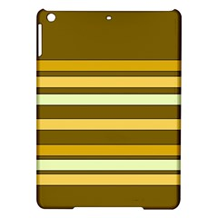 Elegant Shades Of Primrose Yellow Brown Orange Stripes Pattern Ipad Air Hardshell Cases by yoursparklingshop