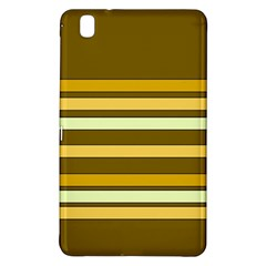 Elegant Shades Of Primrose Yellow Brown Orange Stripes Pattern Samsung Galaxy Tab Pro 8 4 Hardshell Case by yoursparklingshop