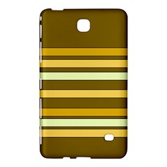 Elegant Shades Of Primrose Yellow Brown Orange Stripes Pattern Samsung Galaxy Tab 4 (7 ) Hardshell Case  by yoursparklingshop
