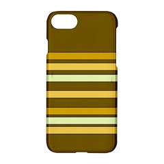 Elegant Shades Of Primrose Yellow Brown Orange Stripes Pattern Apple Iphone 7 Hardshell Case by yoursparklingshop