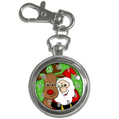 Rudolph And Santa Selfie Key Chain Watches by Valentinaart