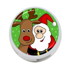 Rudolph And Santa Selfie 4 Port Usb Hub (two Sides)  by Valentinaart