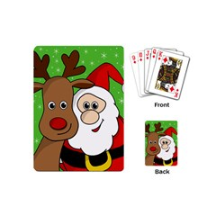 Rudolph And Santa Selfie Playing Cards (mini)