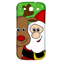 Rudolph And Santa Selfie Samsung Galaxy S3 S Iii Classic Hardshell Back Case by Valentinaart