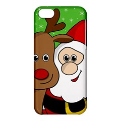 Rudolph And Santa Selfie Apple Iphone 5c Hardshell Case by Valentinaart