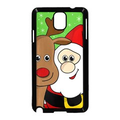 Rudolph And Santa Selfie Samsung Galaxy Note 3 Neo Hardshell Case (black)