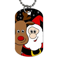 Xmas Selfie Dog Tag (one Side) by Valentinaart