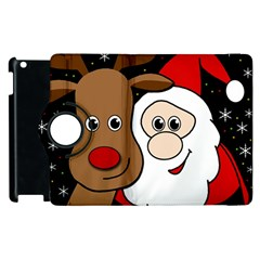 Xmas Selfie Apple Ipad 2 Flip 360 Case by Valentinaart