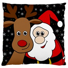 Xmas Selfie Large Flano Cushion Case (one Side) by Valentinaart