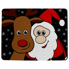 Xmas Selfie Jigsaw Puzzle Photo Stand (rectangular) by Valentinaart