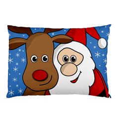 Christmas Selfie Pillow Case (two Sides) by Valentinaart
