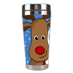 Christmas Selfie Stainless Steel Travel Tumblers by Valentinaart