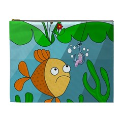 Fish And Worm Cosmetic Bag (xl)