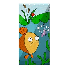 Fish And Worm Shower Curtain 36  X 72  (stall)  by Valentinaart