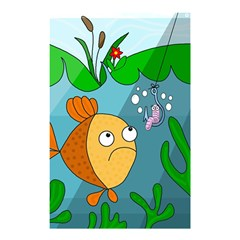 Fish And Worm Shower Curtain 48  X 72  (small)