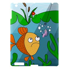 Fish And Worm Apple Ipad 3/4 Hardshell Case