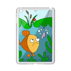Fish And Worm Ipad Mini 2 Enamel Coated Cases by Valentinaart