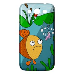 Fish And Worm Samsung Galaxy Mega 5 8 I9152 Hardshell Case  by Valentinaart