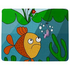 Fish And Worm Jigsaw Puzzle Photo Stand (rectangular) by Valentinaart