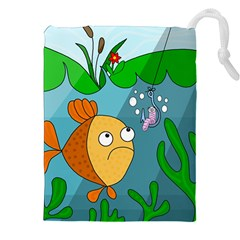 Fish And Worm Drawstring Pouches (xxl)