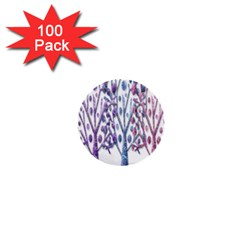 Magical Pastel Trees 1  Mini Buttons (100 Pack)  by Valentinaart