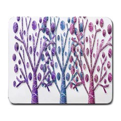 Magical Pastel Trees Large Mousepads by Valentinaart