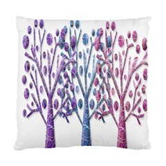 Magical Pastel Trees Standard Cushion Case (two Sides)